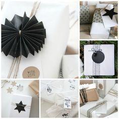 Paketointivinkkejä mustavalkoiseen jouluun | Modern Christmas Gift-Wrapping: La Dolce Vita