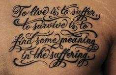 Chronic Ink tattoos, Toronto Tattoo - Custom lettering tattoo