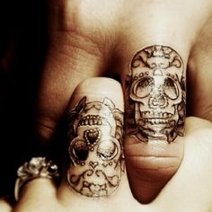 Great idea, sugar skull tattoo