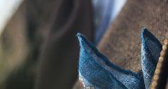 Winter Blue Pocket Square