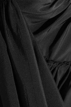 Giambattista Valli - Gathered Silk-taffeta Mini Skirt - Black - IT