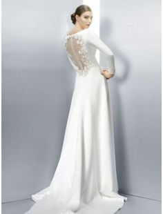 /4339-12068-thickbox/satin-bateau-neckline-a-line-wedding-dress-with-floral-sheer-button-back.jpg