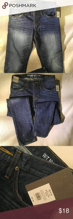 Mossimo Men's Acid Washed Jeans These are new with tags. Great pair of jeans. Nice to have for the casual nights out! Mossimo Supply Co Jeans Slim Straight