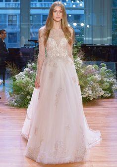 Illusion Long Sleeve Wedding Dress   Rhapsody by Monique Lhuillier    http://trib.al/cUNN8Ko