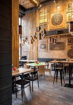 Star Burger (Kiev, Ukraine) Sergey Makhno Architects - Restaurant & Bar Design #restaurantdesign