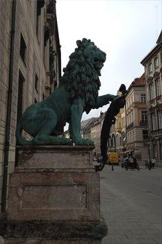 Lion at Residenz Strasse near Odeonsplatz - Munich/ München, Germany/Deutschland