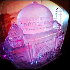 Taj Mahal Ice Sculpture at Wedding | Full Spectrum Ice Sculptures