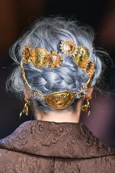Dolce & Gabbana Spring/Summer 2014, Hair Details + Hair colored