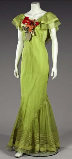 Ballgown by Germaine Monteil, early 1930's France