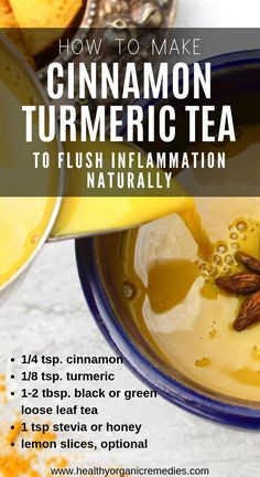 nutrition - How to Make Cinnamon Turmeric Tea to Flush Inflammation Naturally All About Fitness, Healthy Foods, Sports Activities Fitness Magazine Cough Remedies For Adults, Smoothies, Cooking With Turmeric, Turmeric Tea, Natural Home Remedies, Eating Habits, Health Remedies, Herbal Remedies, Holistic Remedies