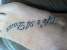 Foot tattoo... Life's a dance