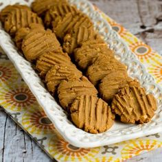 If I had to pick my favorite sugar-free cookies, there's no doubt these Flourless, Sugar-Free, Gluten-Free Peanut Butter Cookies are the on. Low Sugar Cookies, Gluten Free Peanut Butter Cookies, Sugar Free Desserts, Sugar Free Recipes, Gluten Free Recipes, Cookie Recipes, Tasty Cookies, Healthy Cookies, Dessert Recipes
