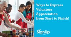 To ensure your volunteering event goes off without a hitch, and to ensure your volunteers feel valued and welcomed, here are a few planning suggestions for you to express volunteer appreciation from start to finish.