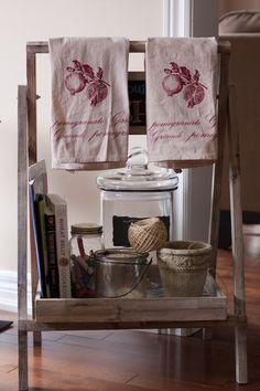 Tea dyed handtowels Wheat Belly, Hamper, Organization, Tea, Kitchen, Home Decor, Organisation, High Tea, Cuisine