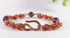 Copper Chainmaille Bracelet- Copper Chain Bracelet - Copper Bracelet - by RoseBriarDesigns on Etsy