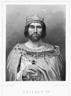 Theuderic I (c. 485 – 533/4) was the Merovingian king of Metz, Rheims, or Austrasia—as it is variously called—from 511 to 533 or 534 He was the son of Clovis I and one of his earlier wives or concubines (possibly a Franco-Rhenish Princess, Evochildis of Cologne