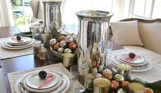 Simple Elegant Table Settings With White Pillow