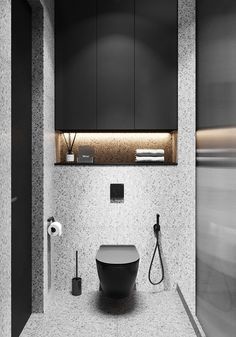 Small Toilet Design, Small Toilet Room, Small Bathroom, Washroom Design, Bathroom Design Luxury, Modern Bathroom Design, Bad Inspiration, Bathroom Inspiration, Bathroom Toilets