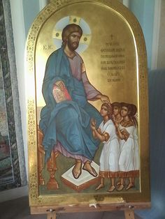 Byzantine Icons, Byzantine Art, Religious Icons, Religious Art, Church Icon, Images Of Christ, Life Of Christ, Religious Paintings, Jesus Christus