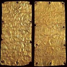 Etruscan Language  the inscribed gold plaques found at the site of the ancient sanctuary of Pyrgi, the port city of Caere, provide two texts; one in Etruscan and the other in Phoenician, of significant length (about 40 words) and of similar content. They are the equivalent of a bilingual inscription and thus offer substantial data for the elucidation of Etruscan by way of Phoenician, a known language. The find is also an important historical document, which records the dedication to the…