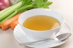 A clear liquid diet includes foods that are liquid at room temperature. These foods are easily digested, leaving no undigested residue in your intestinal tract. You doctor might prescribe a clear liquid diet prior to medical tests or surgery. He might als Pureed Food Recipes, Soup Recipes, Healthy Recipes, Healthy Soup, Healthy Foods, Chicken Broth Substitute, Weight Loss Soup, Vegetable Stock, Bone Broth
