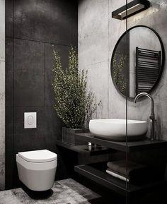 Industrial Style Bathroom Faucets Lovely 51 Industrial Style Bathrooms Plus Ideas & Accessories You Grey Bathroom Tiles, Modern Bathroom Design, Bathroom Interior Design, Bathroom Ideas, Bathroom Designs, Bathroom Black, Master Bathroom, Silver Bathroom, Bathtub Ideas