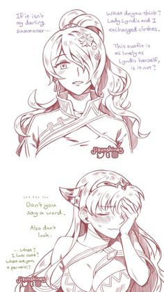Lyn and Camilla dressed as each other pt.2 Artist: Jisunshines https://twitter.com/jisunshines/status/905607212093104128
