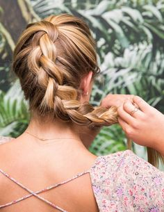 If you want beachy waves without the fuss, fix your hair in a loose braid in the back of your head.