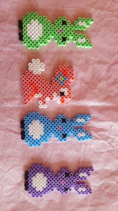 Fuse Beads, Pearler Beads, Beaded Animals, Easter Crafts, Cool Kids, Embroidery, Crochet, Mini, Beading