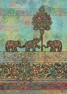 Cute elephant background