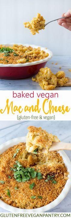 Baked Vegan Mac and Cheese - Gluten-free   http://glutenfreeveganpantry.com