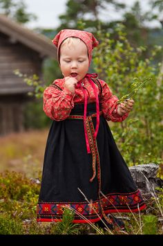 Norway - girl in national costume