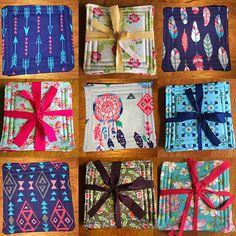 Fabric coasters! #twincedarquilting #sewing #diy #handmade