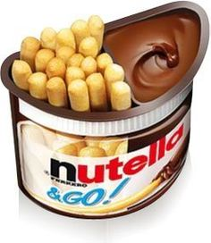 Nutella and GO! Snack - Case of 12 - 52g: http://www.amazon.com/Nutella-GO-Snack-Case-52g/dp/B004RREF5S/?tag=httpbetteraff-20