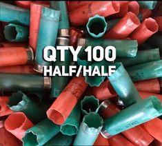 Green and Red Empty Shotgun Shells 12 Gauge Shotshells 12GA Mixed Hulls – Craft Supplies Depot