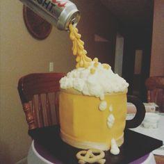 Gravity Beer Mug cake