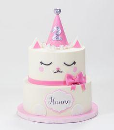 New Birthday Cake Unicorn Fun 24 Ideas Birthday Cake For Cat, Themed Birthday Cakes, Hello Kitty Cake, Hello Kitty Birthday, Kitty Party, Kitten Cake, Chat Kawaii, Girl Cakes, Party Cakes