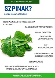 szpinak dieta How To Stay Healthy, Healthy Life, Raw Food Recipes, Healthy Recipes, Raw Food Diet, Superfoods, Green Beans, Spinach, Techno
