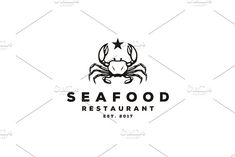 Vintage Crab Claws Seafood logo by on Seafood Shop, Seafood Restaurant, Winery Logo, Pearl Logo, Crab And Lobster, Logo Food, Logo Templates, Design Templates, Modern Graphic Design