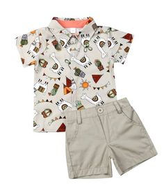 Toddler Baby Boy Flamingo Short Sleeve Button Down Shirt & Casual Shorts Set Summer Outfits Years Clothes Baby Costumes For Boys, Boy Costumes, Toddler Outfits, Baby Boy Outfits, Pants Outfits, Toddler Boys, Baby Kids, Flamingo Shorts, Llama Shirt
