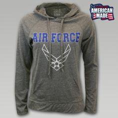 U-Trau Air Force Women's Tri-Blend Hoodie