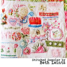 Love this free-style embroidery!