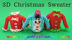 Ornament How to Loom Bands Tutorial. DIY tutorial for how to make Rainbow Loom Christmas Sweater CharmHolidayOrnament How to Loom Bands Tutorial Copyright by . This pattern design also can use Rainbow Loom Christmas, Rainbow Loom Charms, 3d Christmas, Christmas Sweaters, Loom Love, Fun Loom, Rainbow Loom Tutorials, Rainbow Loom Creations, Rubber Band Crafts