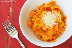 Cheesy Sweet Potato Fettuccini | No Sugar Sweet Life