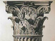 Capitel Corintio El orden corintio es el más ornamentado de los tres órdenes arquitectónicos griegos y romanos. Las columnas corintias tienen de 9 a 11 veces la medida del diámetro. Una de las novedades del orden clásico es la forma del capitel. El formato del capitel sugiere hojas de acanto y cuatro espirales simétricas y fue usado para sustituir el capitel jónico como una variante lujosa de este orden.