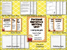 2nd Grade Stuff: common core personal narrative writing unit