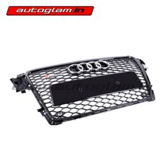 Audi Front Grills are made of High quality material it has easy installation procedure. It enhances the front look of the car. Black Audi, Front Grill, Projector Headlights, Audi A4, Car Accessories, Grilling, Automobile, Color Black, Model