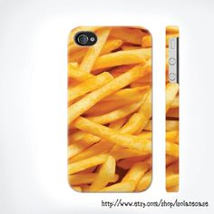 french fries iphone 5 case , Food iphone 4 case iphone 4s case , iphone cover , Hard Plastic Case. $24.00, via Etsy.