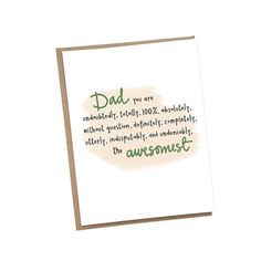 Awesome Father's Day Card • Family • Kids • Dad • Stepdad • Grandfather • Best Dad card