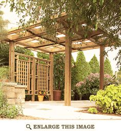 Garden Pergola Trellis Woodworking Plan, Outdoor Furniture Project Plan | WOOD Store